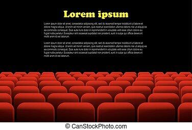 ∥あるいは∥, 席, 横列, 映画館, 劇場, 赤
