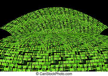 ∥あるいは∥, 板, 情報, 抽象的, 背景, 回路, ハイウェー, 緑, デザイン, 極度