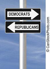 ∥あるいは∥, 民主主義者, 共和党員
