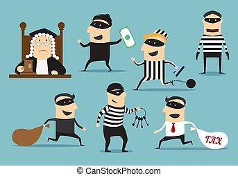 ∥あるいは∥, 泥棒, 裁判官, ベクトル, 犯罪, 罰, 強盗