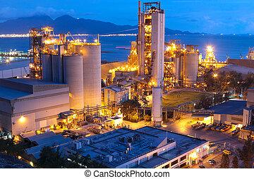 ∥あるいは∥, 産業, 重い, 建設, industry., コンクリート, 工場, 植物, セメント