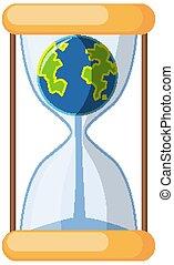 ∥あるいは∥, 砂時計, 背景, 隔離された, 地球, sandglass, 白