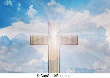 ∥あるいは∥, 空, 輝き, 交差点, 形態, かいば桶, 十字架像, ライト, 天国, 神