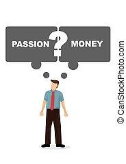 ∥あるいは∥, 続きなさい, 彼の, ∥そうするべきである∥, 描きなさい, はっきりしない, もし, 従業員, ベクトル, 彼, monay., employee., スピーチ, 考え, 泡, 仕事, 情熱, イラスト