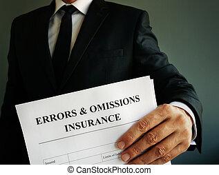 ∥あるいは∥, 責任, e&o, 戦略, 間違い, hands., 保険, 専門家, omissions
