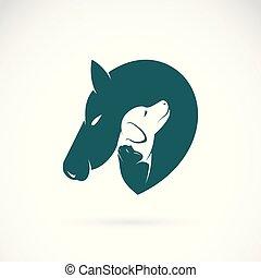 ∥あるいは∥, 馬, ベクトル, ペット, pet., editable, 犬, ねこ, バックグラウンド。, 層にされる, 容易である, ロゴ, animal., icon., 白, illustration.