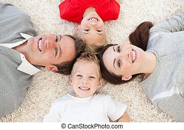 あること, とても, 家族, 床