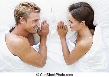 あること, 微笑, 恋人, ベッド