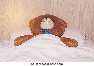 あること, 熊, ベッド, テディ