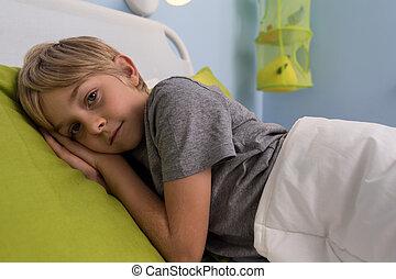 あること, 病気, 病院ベッド, 子供