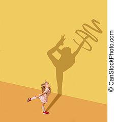 ある, 体操選手, について, 夢