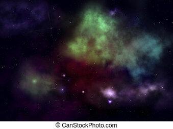ある, 光をあてられた, 星雲