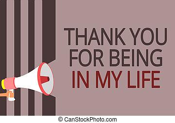 ある, 写真, 印, 誰か, メッセージ, あなたの, から, 拡声器, 感謝しなさい, テキスト, 概念, あなた, メガホン, 話すこと, 情事, loud., 提示, ストライプ, 重要, 灰色, life., 私, 側