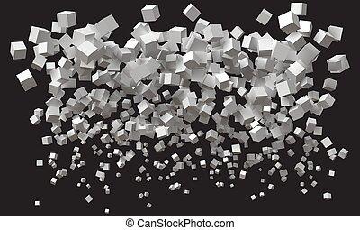 ある, 底, 単純である, 波, top., cubes., より大きい, 大きさ