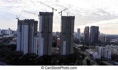 ある, 建物, constructed, シンガポール