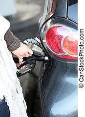 ある, 自動車, ディーゼル, ガソリン, refuelled, ∥あるいは∥