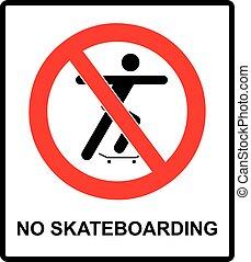 いいえ, シルエット, ベクトル, skateboarding, イラスト, 印, 割り当てられる, 人