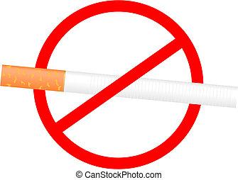 いいえ, 印, 喫煙