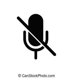 いいえ, 無言, icon., マイクロフォン, 禁止, 歌いなさい