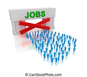 いいえ, unemployment., jobs:, 隔離された