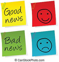 いいニュース, そして, 悪いニュース, それを掲示しなさい