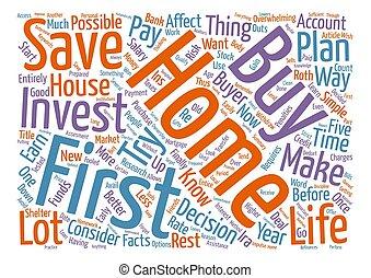 いかに, しなさい, i, 投資しなさい, ∥ために∥, 私, 最初 家, 単語, 雲, 概念, テキスト, 背景