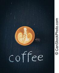 いかに, コーヒー, 芸術, 作りなさい, latte