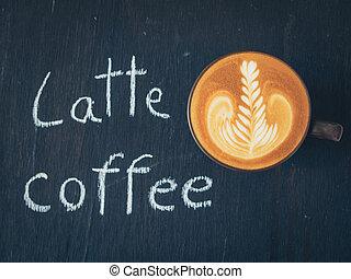 いかに, 作りなさい, 芸術, latte, コーヒー