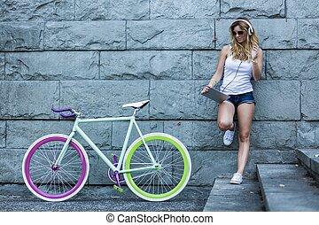 いかに, bike?, 涼しい, 私, 新しい