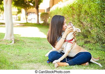 いくつか, 提示, 愛, 犬, 彼女