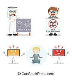 いじめ, 2, セット, cyber, 人々