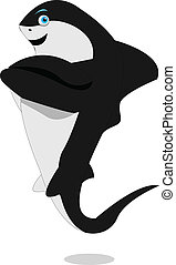 いたずら好きである, サメ