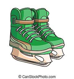 いたずら書き, アイススケートをする