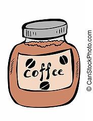 いたずら書き, コーヒー, 瞬間