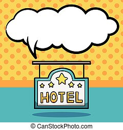 いたずら書き, ホテル, 印