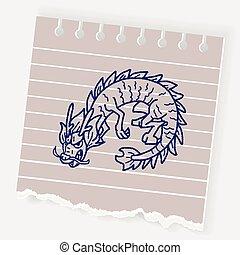いたずら書き, 中国のドラゴン