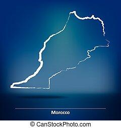 いたずら書き, 地図, モロッコ