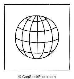 いたずら書き, 地球, 地球, アイコン