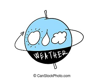 いたずら書き, 天候