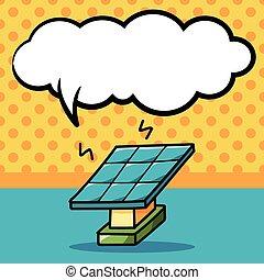 いたずら書き, 太陽 パネル