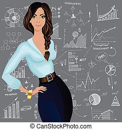 いたずら書き, 女性ビジネス, 背景