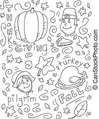 いたずら書き, 感謝祭