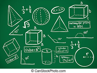 いたずら書き, 数学