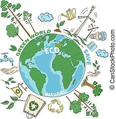いたずら書き, 概念, エコロジー