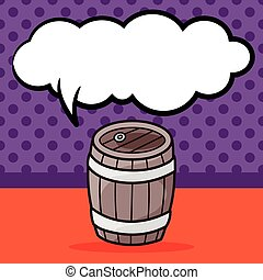 いたずら書き, 樽, ワイン