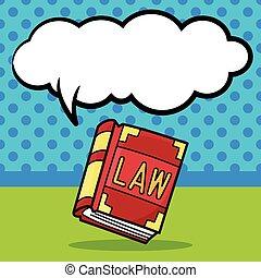 いたずら書き, 法律書