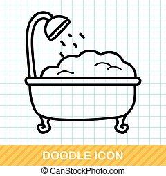 いたずら書き, 浴槽