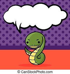 いたずら書き, 獣帯ヘビ, 中国語