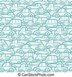いたずら書き, 自動車, seamless, 背景 パターン