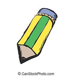 いたずら書き, 色の鉛筆, ∥で∥, 消しゴム, ベクトル, アイコン